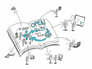 Image of open textbook